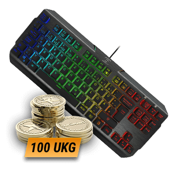 Lioncast LK200 RGB Gaming Keyboard + 100 UKG