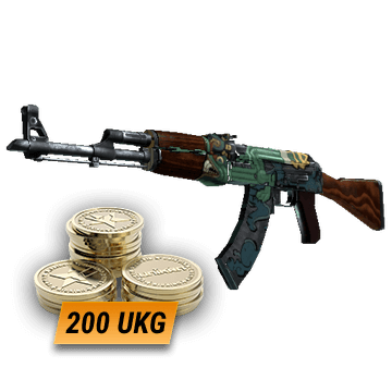 AK-47 | Fire Serpent (Minimal Wear) + 200 UKG